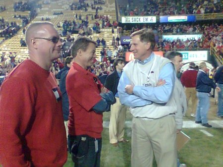 Fox News anchor Shepard Smith talks with Ole Miss AD Pete Boone.